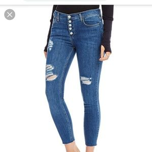 NWT Free People Destroyed Reagan Raw Jeans